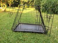 Dog or cat car travel cage
