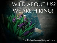 wild about flowers are looking for a fully-qualified florist to join their dynamic team
