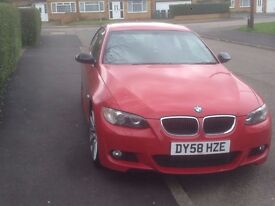 BMW 320D COUPE MSPORT 2008 320 DIESEL RED