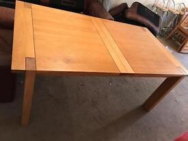 Large solid oak extending table