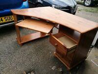 Pine wooden Computer desk