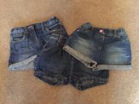 Denim shorts age 3-4. Immaculate