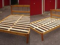 Double bed base, made of pine. Dissembled for easy carriage with all original fixings and Allen key.