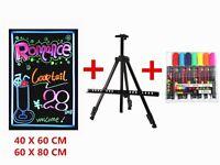 New LED Tempered Glass Writing Board+RC+Tripod+Neon Fluorescent Pen;Chalk Board Sign Board Menu