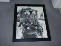 Framed Laurel and Hardy Picture