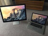 "Apple MacBook Pro 15"" Laptop with 24"" Apple Cinema Display"