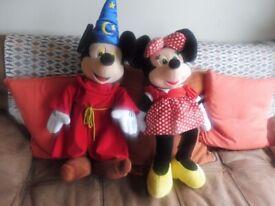 Mickey and Minnie mouse large euro Disney plush toys