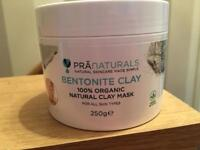 Organic clay face mask powder - brand new