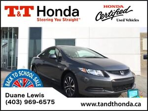 2013 Honda Civic EX* No Accidents, Rear Camera, Bluetooth, Sunro