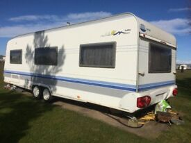 Hobby 650 UMFE Prestige Caravan..... Fixed Bed. great caravan in good condition