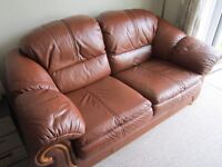 Klaussner Leather sofa and Footstool