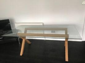 Habitat modern glass dining table
