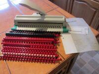 Rexel Manual plastic ring binder plus assortment of binders as in photo