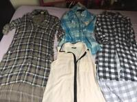 Women's dresses shirts and tops -13pcs new and used