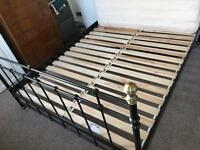 Large double bed and mattress