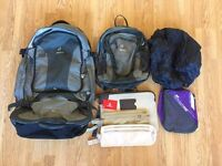 55L Deuter Backpack + 10L Backpack with accessories