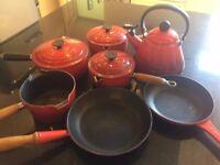 Le Creuset Red Cast Iron Set - 7 Pieces