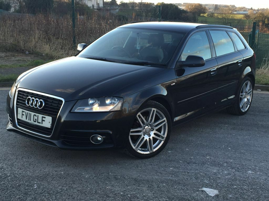 2011 11reg audi a3 s line 2 0 tdi 140bhp start stop roof rails full service history mot. Black Bedroom Furniture Sets. Home Design Ideas