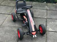 Black and Red Pedal Go Kart fantastic condition as new
