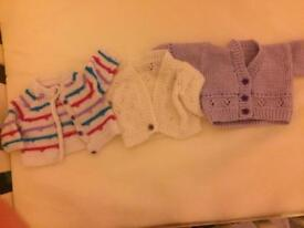 3 knitted cardigans