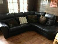 5 Seater Leather Corner Sofa for sale