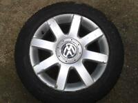 "1 X GENUINE VW MK5 MK6 GOLF TOURAN CADDY 16"" IMOLA ALLOY WHEEL 1K0601025R 5X112PCD"