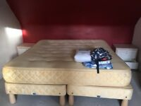 Free King size bed and two bedside tables