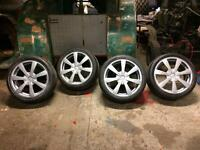 "18"" Oz alloy wheels & tyres VW audi golf Passat TT A3 A4 a6 caddy t4"