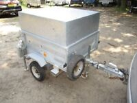 UNIQUE GALVANISED 4 X 3 X 2-6 GOODS TRAILER WITH STEEL LID....ETC.......