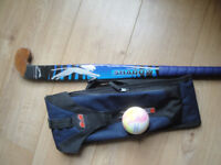 Slazenger Panther Shadow Dark Blue Wood Hockey Stick with Hockey Stick Bag & Ball. Lightly Used