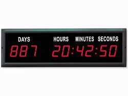 EU Electronic 1.8'' Red Color LED Countdown Clock Count Up With IR remote