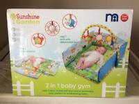Sunshine Garden 2 in 1 Baby Gym & Play Mat