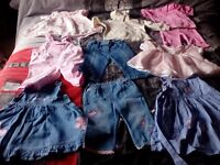 Bargain bag girls baby clothes age 6-12 months (69 items)