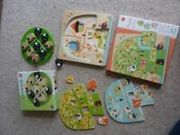 Pintoy and Djeco Wooden Puzzles Games