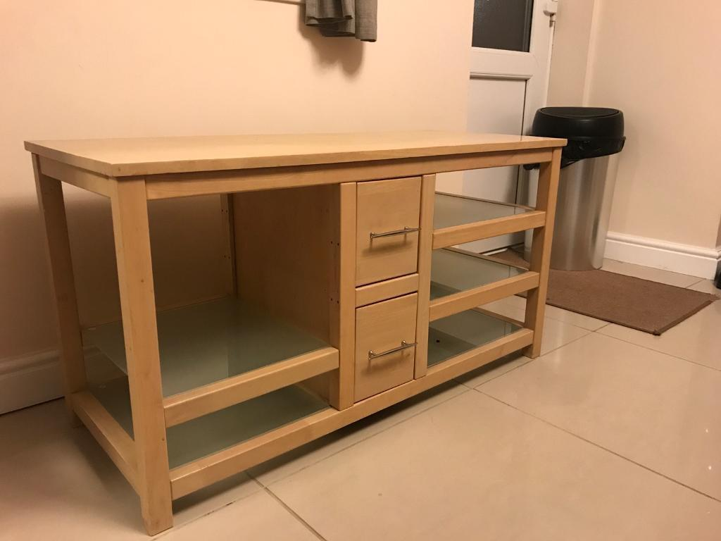 TV entertainment unit in beech