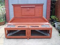 Extra Large Unique Designed Twin Rabbit Hutch