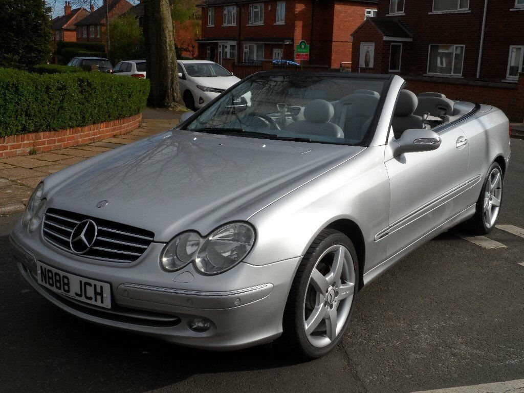 mercedes benz clk 240 convertible auto big screen sat nav