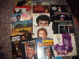 VINYL MIXED LOT-JOHNNY MATHIS/DEAN MARTIN/TONY BENNETT ETC