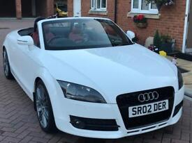 Audi TT 2.0Tfsi Roadster Ibis White Red Leather