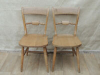 2 Wooden Dining Chairs (Delivery)