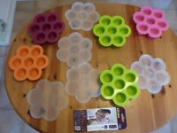 5 Beaba Baby Cook Silicone Multiportions Freezing moulds