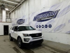 2017 Ford Explorer Sport W/ 2nd Row Bucket seats, Leather, 4WD