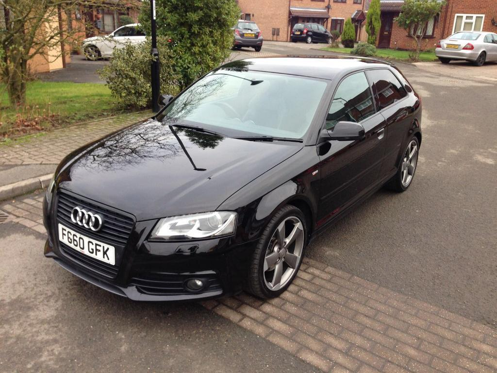 audi a3 s line black edition 2010 2 0 tdi 3dr fsh bose flat bottom not sportback in exhall. Black Bedroom Furniture Sets. Home Design Ideas
