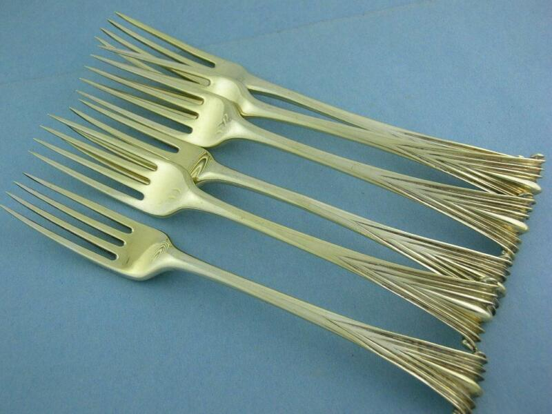 6 George III Silver Dinner Forks THOMAS CHAWNER London c1773 ONSLOW -gilt finish