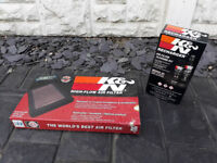K&N Air Filter and Recharger Cleaner Kit for Peugeot 207 1.6 HDi 110