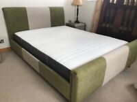 King size bed frame with twin side Units