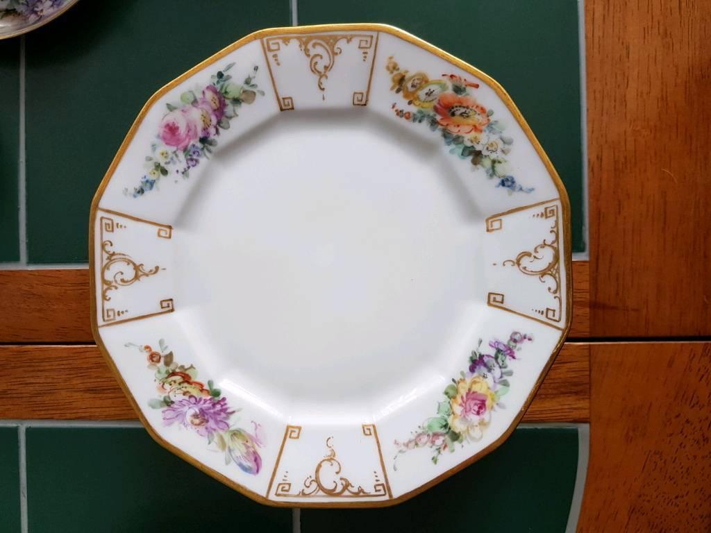 Antique china cake plates