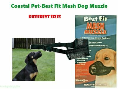 Coastal Best Fit Dog Mesh Muzzle Black Different Sizes Free -