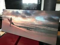Surf beach canvas print picture