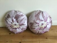 Two round cushions